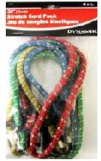 BUNGEE CORD 30 INCHES PACK 4PC