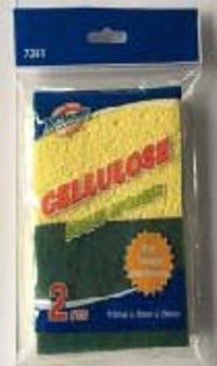 CELLULOSE SCRUB SPONGES (2 PCS)