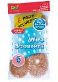 Copper Wire Scourers 6 Packs