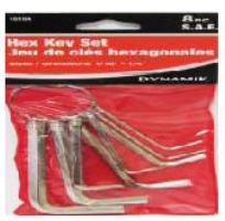 HEX KEY SET-SAE 8 PC