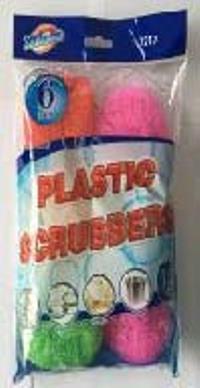 PLASTIC SCRUBBERS(6 PCS)
