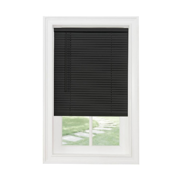 black mini blinds-vinyl-cordless