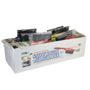 Auto snow brush with scraper in display box