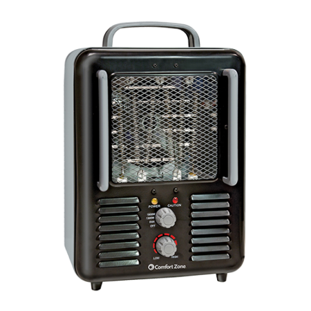 Wholesale Deluxe Milkhouse Heater-Fan (Black)