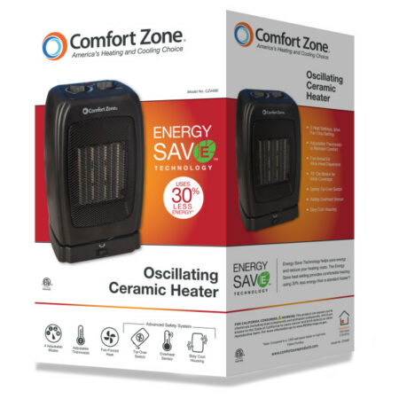 Oscillating Heater_Fan-Mazer Wholesale