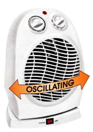 Personal Classic Oscillating Heater - Fan