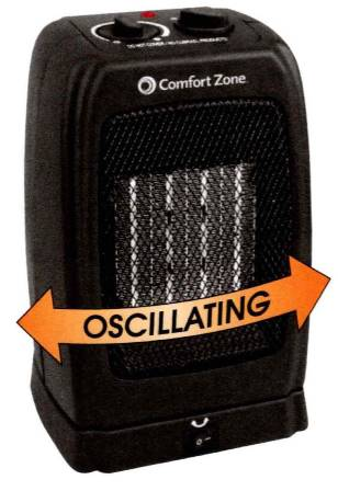 Cheap Personal Sized Oscillating Heater - Fan