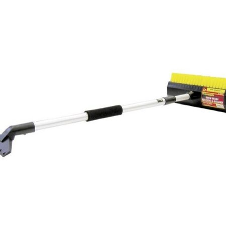 windshield snow brush and scraper with long telescoping handle