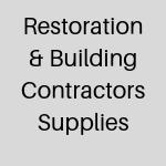 Restoration and Contractors Supplies