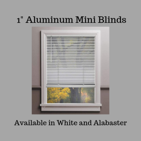 "1"" Aluminum Mini Blinds-Cordless"