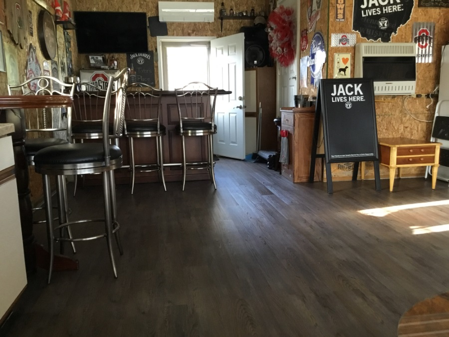 flooring ideas for a man cave