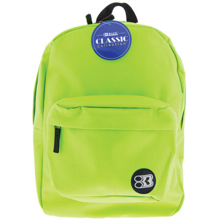 lime green backpack