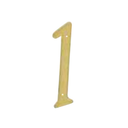 brass plated number 1