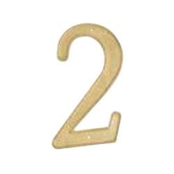 brass plated number 2