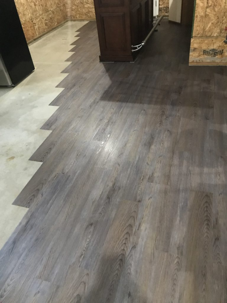 installing peel & stick floor planks