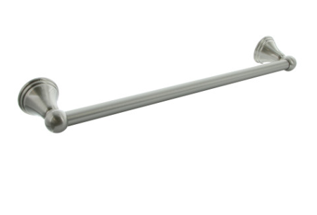 """18"""" and 24"""" Bell Style - Satin Nickel Finish Towel Bar"""
