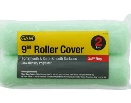 Twin Pack 9 inch Paint Roller Covers