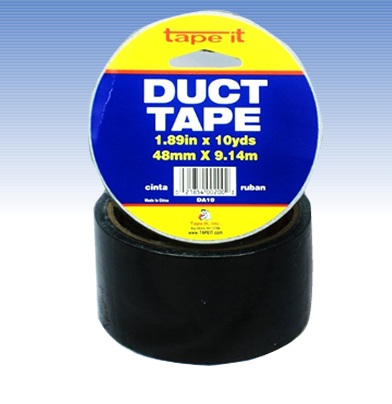 Black Duct Tape, 2 Inch x 10 Yard