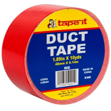 Red Duct Tape, 2 Inch x 10 Yard