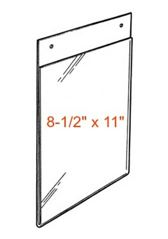clear wall mount sign holder