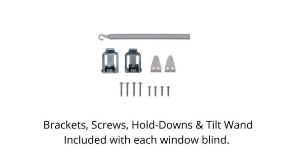 Brackets, Screws, Hold-Downs and Tilt Wand