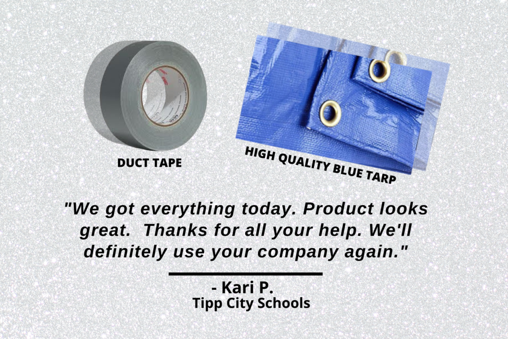 Mazer Wholesale Reviews- Duct tape & High Quality Blue Tarp