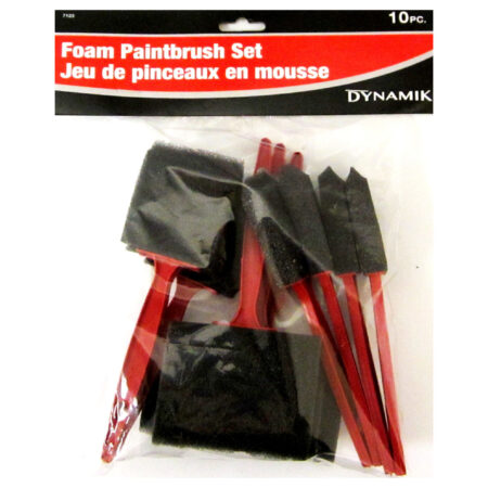 Foam Paintbrush Set