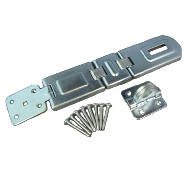 Double hinge flexible hasp