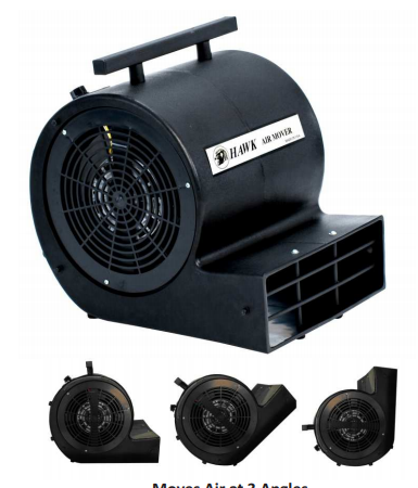 POWERFUL AIR MOVER-FLOOR DRYERS