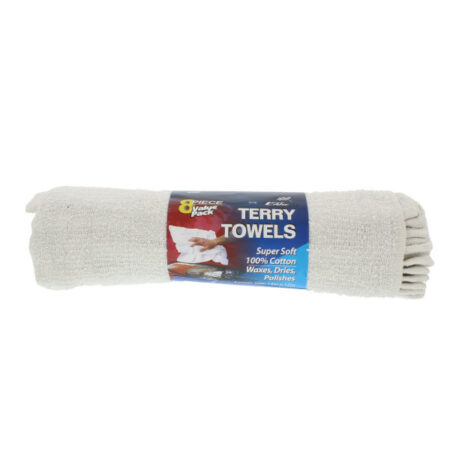 Terry Cotton Towels-8Pk