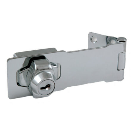 Hasp Key Lock 4 Inch Chrome