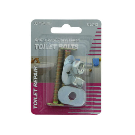 Toilet Bolts, Brass Plated