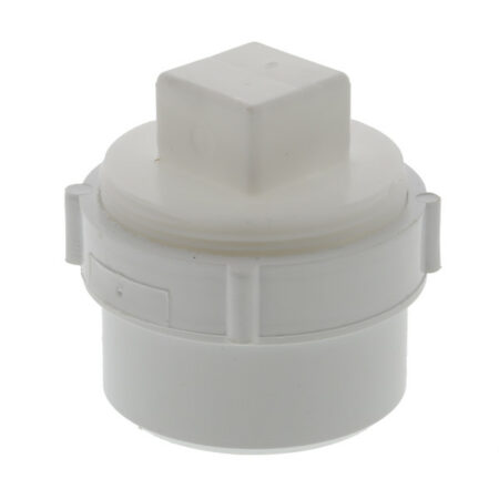 """PVC Cleanout Adapter with Plug 3"""""""