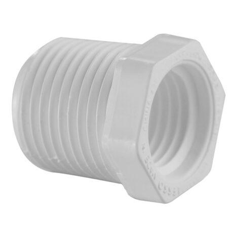 "Mazer Wholesale - PVC Threaded Bushing 1-1/2"" x 1-1/4"""