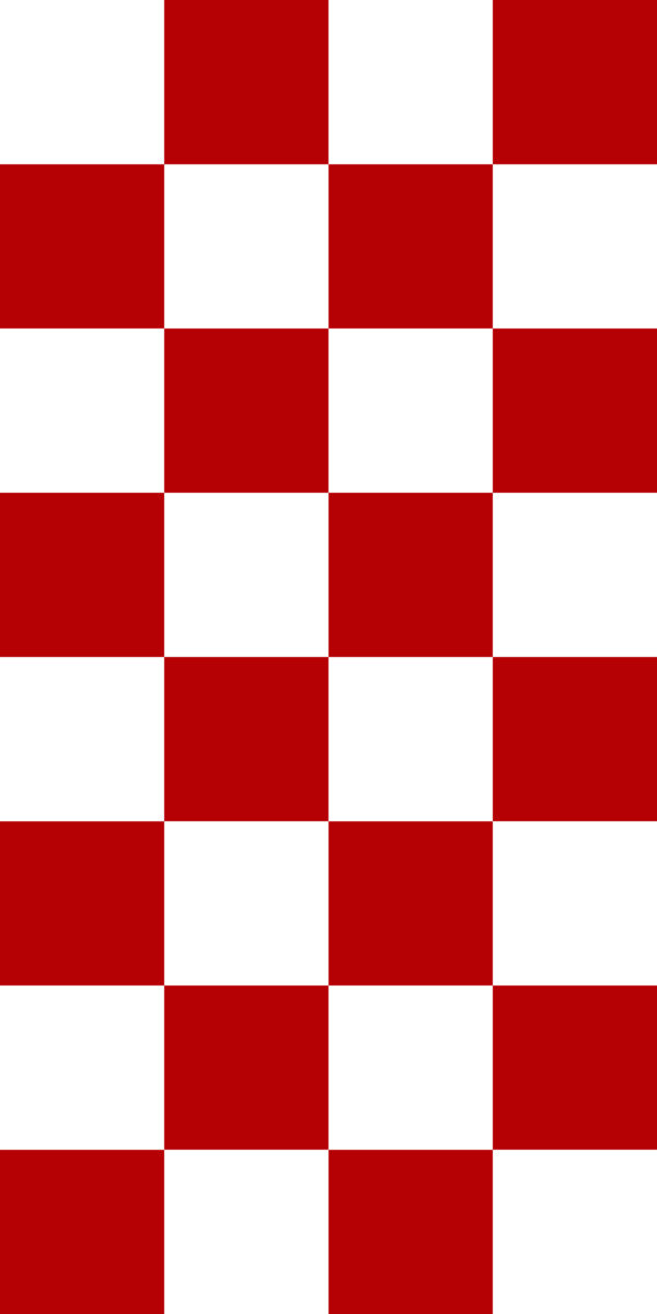 red and white checkerboard floor tile