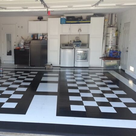 Garage Floor Tile   Peel & Stick